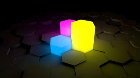 Full HD Wallpaper light geometric figure neon, Desktop