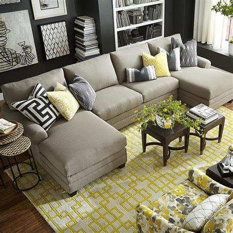 living room comfortable double chaise sectional