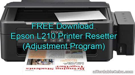 epson  printer resetter adjustment program