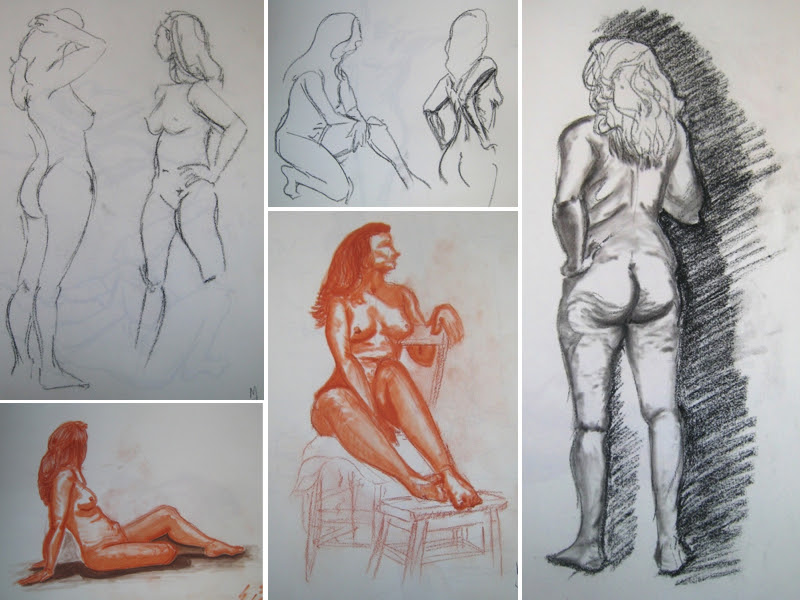 MJ SKETCHBOOK | Life Drawing Woman