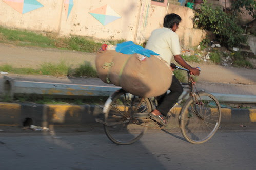 Going To Work On A Cycle - If You Are Late By 15 Minutes Boss Wont Cut Half Days Salary by firoze shakir photographerno1