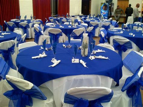 Royal Blue White Wedding Decorations