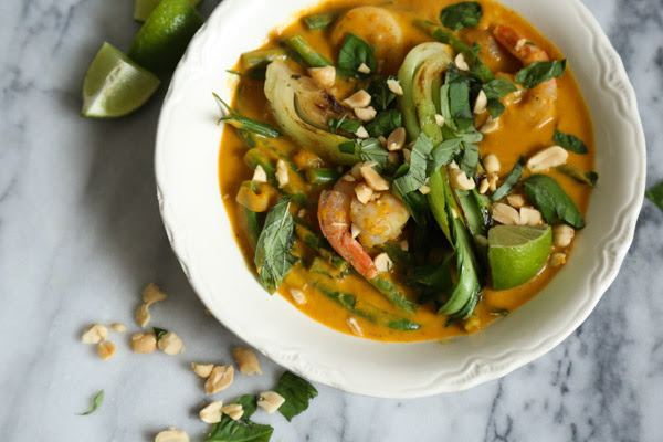 Shrimp Thai Red Curry with Pumpkin and Bok Choy Recipe | Gluten-Free, Quick and Healthy