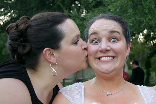 sarah kisses me. :)