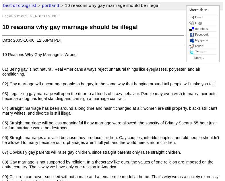 reasons why gay marriage should be illegal lol god