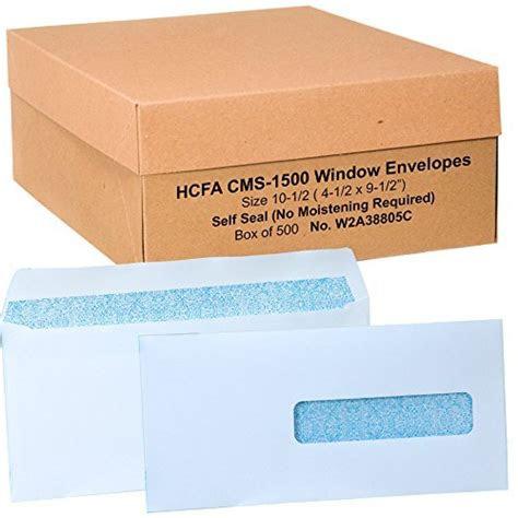 hcfa envelopes window style size