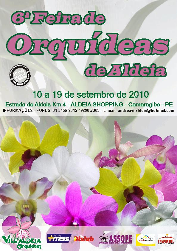 Cartaz Feira de Orquídeas de Aldeia