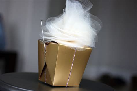 Gift Boxes with Pretty Tulle Flowers