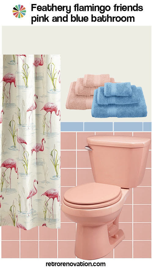 13 ideas to decorate a pink and blue tile bathroom - Retro ...