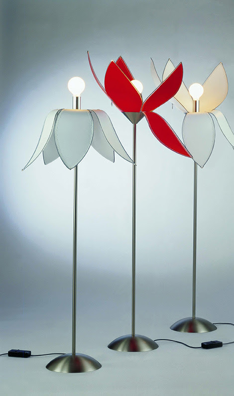 Unusual Table Lamp and Floor Lamps by Quasar – Tulip