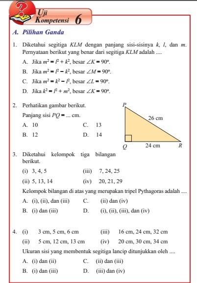 Uji Kompetensi 6 Matematika Kelas 8 Semester 2 Hal…