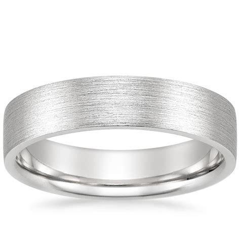 5mm Flat Matte Comfort Fit Wedding Ring in Platinum
