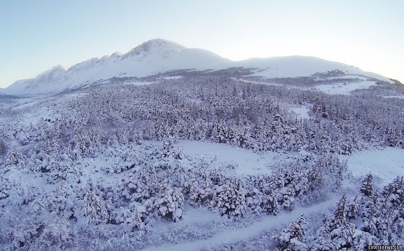 aerial footage captures the untouched beauty of the Alaskan wilderness