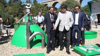 El president, Carles Puigdemont, inaugura la depuradora de Capçanes