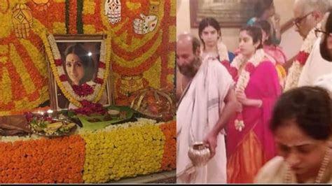 Sridevi death anniversary: Janhvi and Khushi Kapoor attend