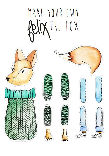 Make your own Felix the Fox, a tutorial by Anouck Plume