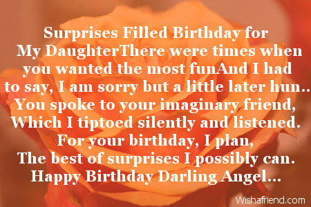 Daughter Birthday Poems