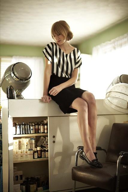 1385 - Barbie Stripe Shirt