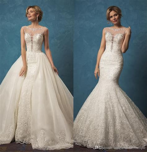 Amelia Sposa 2017 Wedding Dresses Detachable Skirt With