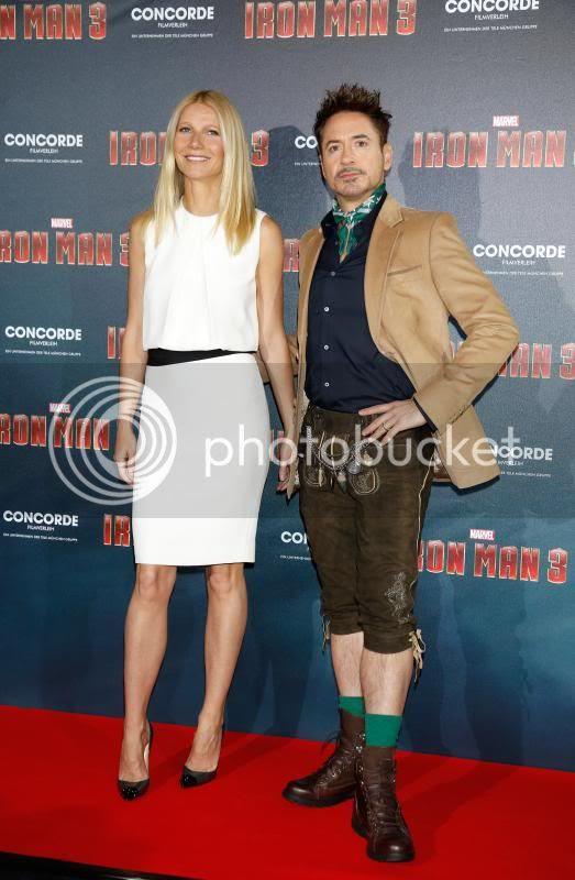 Iron Man 3 photo: Robert Downey Jr. and Gwyneth Paltrow in Munich promoting