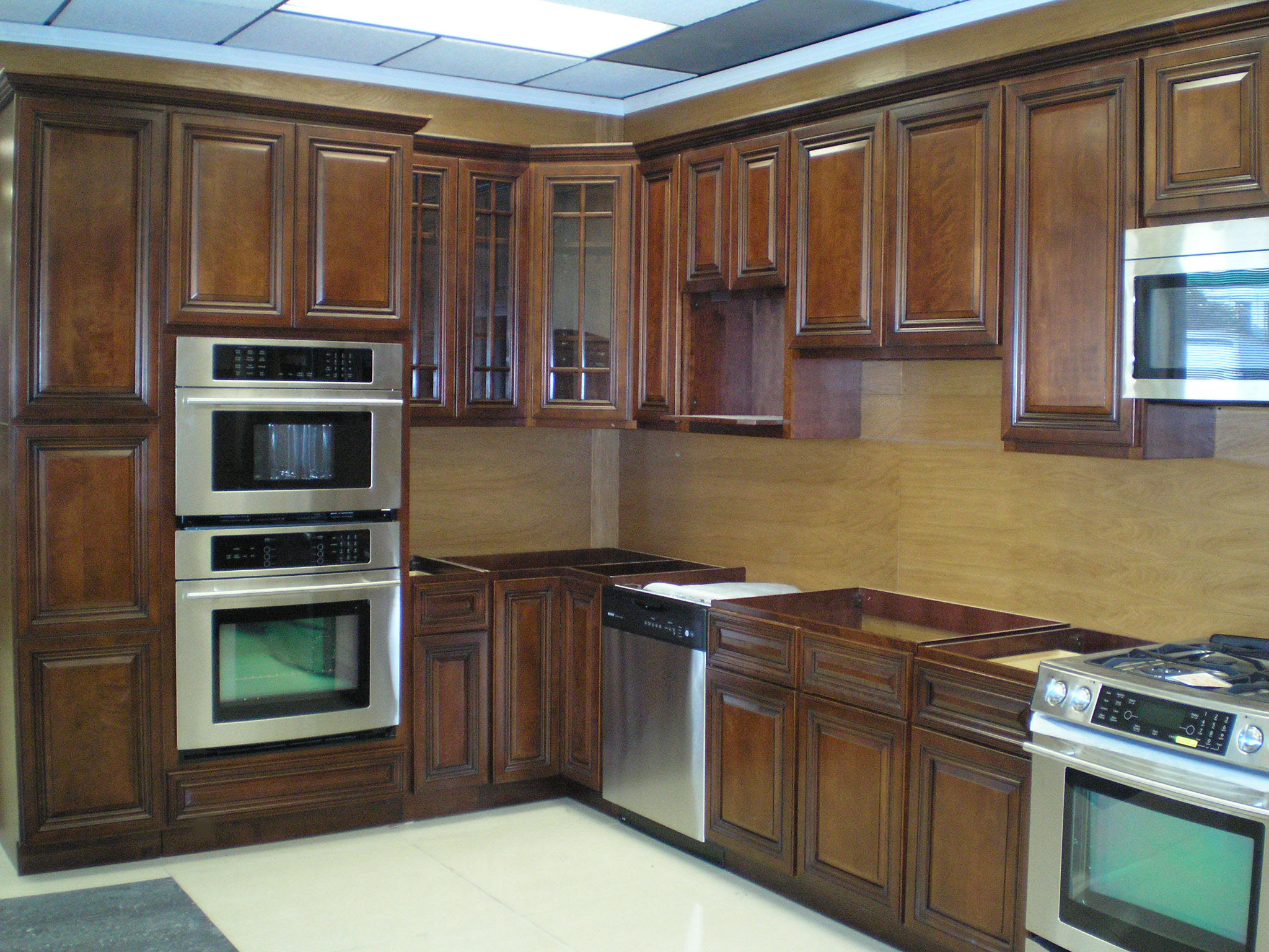 Walnut Wood Kitchen Cabinets