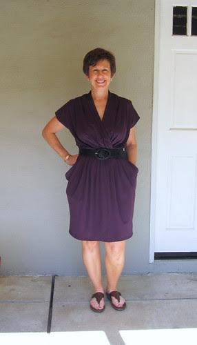 Purple dress on me