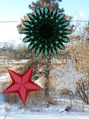 Trio of Christmas Window Stars