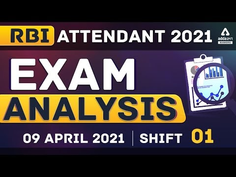 RBI Office Attendant Exam Analysis : (Shift 1, 9 April 2021) | Asked Questions & Expected Cut Off