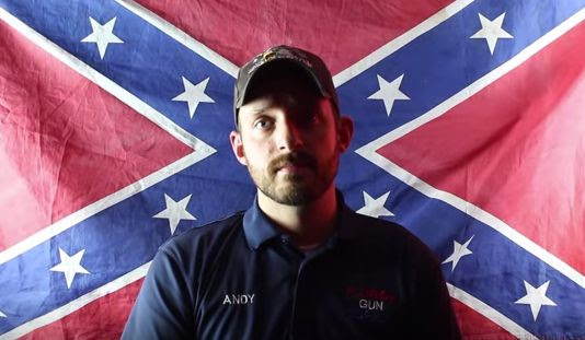 "Andy Hallinan, of the Florida Gun Supply in Inverness, Florida, declares his store to be a ""Muslim-free zone"" in a video posted to YouTube on July 18, 2015."