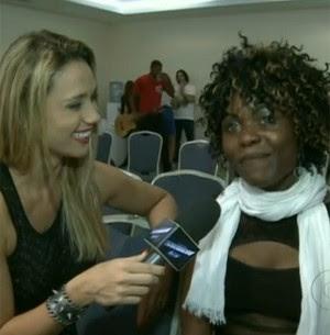 Candidata de Camarões The Voice (Foto: Tv Globo)