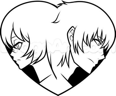 draw  anime heart step  step anime people
