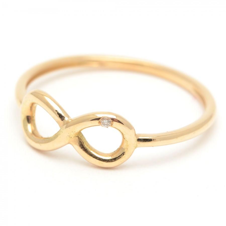 Sortija Oro Y Diamante Con El Símbolo Del Infinito