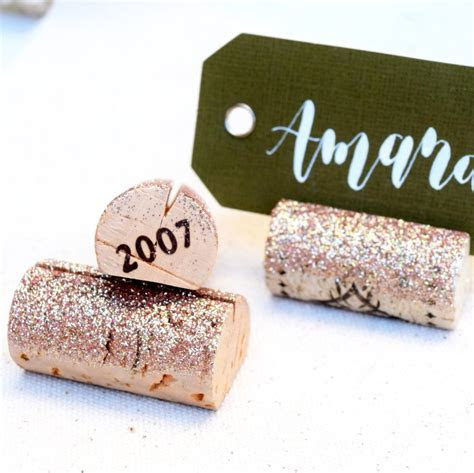 Glitter Wedding Place Card Holders by KVW ? Kara's