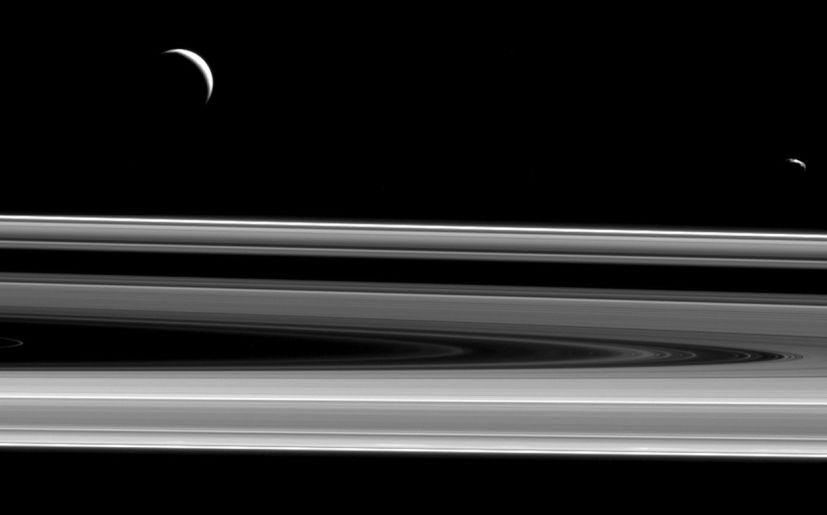 Los anillos de Saturno. (Foto: NASA)