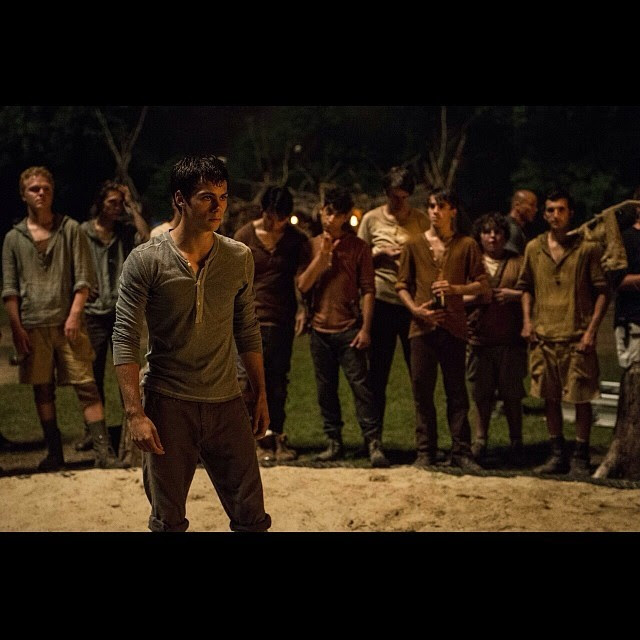 **le dies** Check out this exclusive photo from the trailer and be sure to catch the global premiere of the full Maze Runner trailer during an all new Teen Wolf on Monday at 10pm