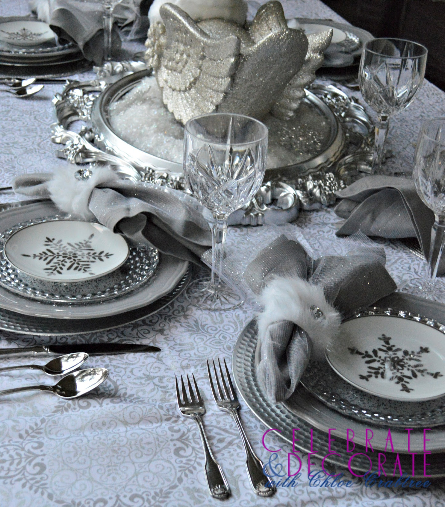 A Winter Wonderland Tablescape