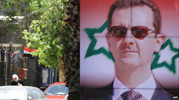 Assad election poster in Damascus