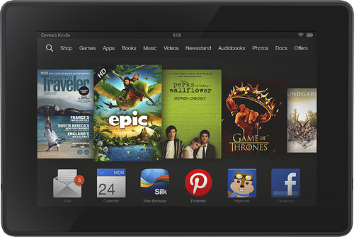 Amazon - Kindle Fire HD - 8GB - Black - Larger Front