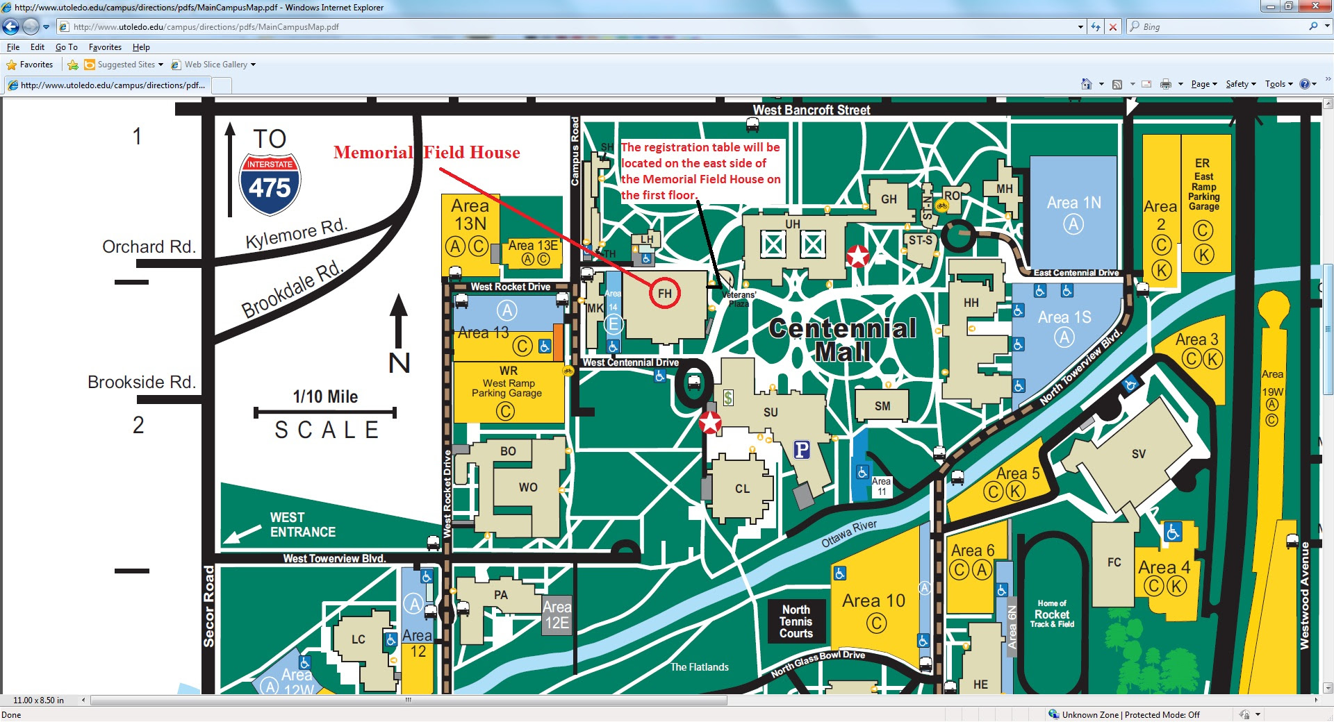 University Of Toledo Campus Map | States Maps on