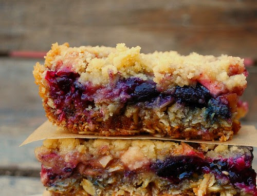 Apple Blueberry Crumb Bars ECU