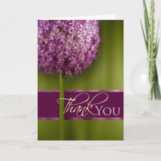 Thank You Acknowledgement Card card