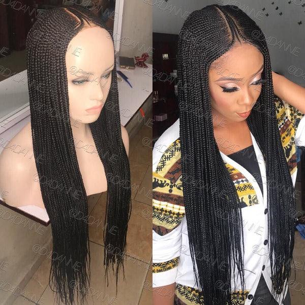 Bella Braided Wigs - Amina   Natural Custom Made Braided ...
