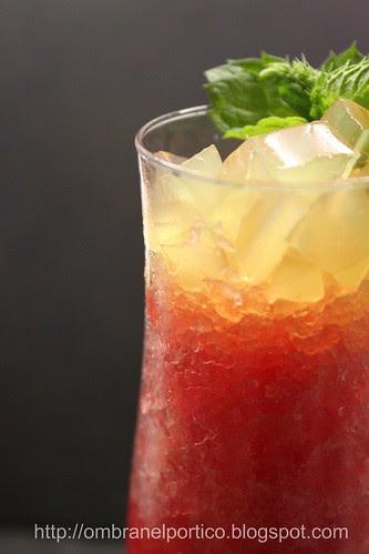 Sorbetto di anguria e gelatina di pernod