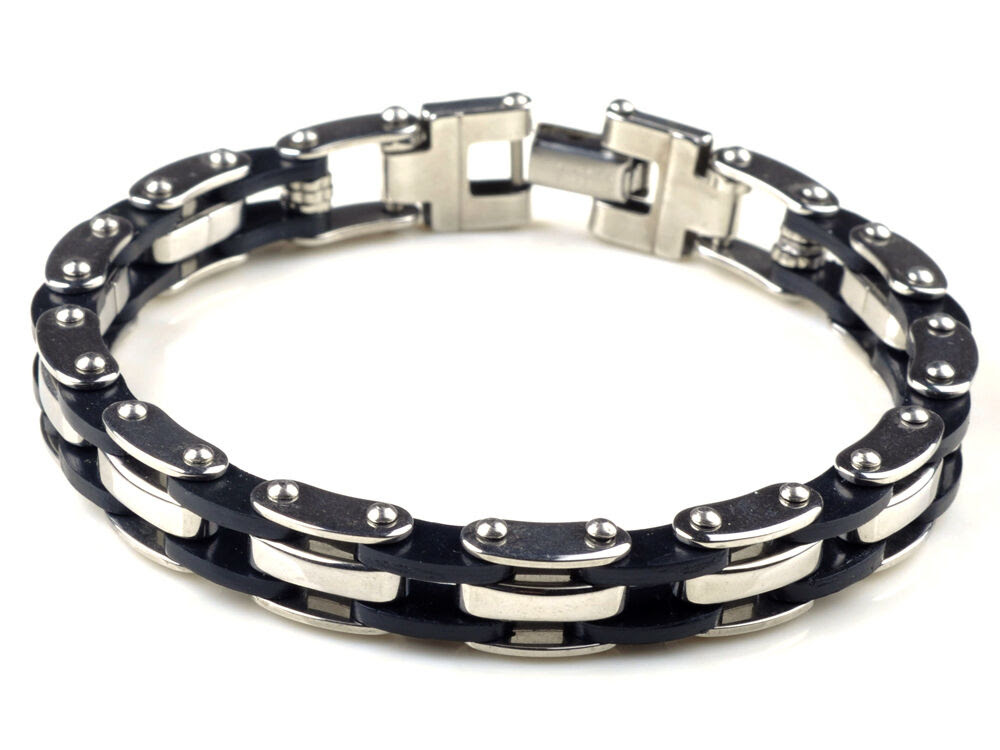HOT High Quality Mens Stainless Steel Bracelet Silver