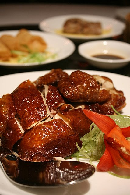 Crispy roast chicken H.K. style