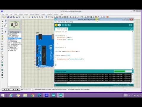 Arduino Pir sensor simulation in proteus