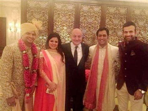 Pics: Dhoni, Sakshi attend but Virat Kohli, Anushka Sharma