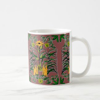 Meditative Botanical Coffee Mug