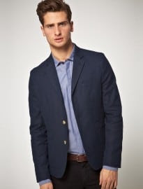 Asos Slim Fit Blazer In Navy