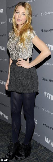 Glamour Girl: Blake Lively olhou impressionante em uma seleção para o filme Haywire esta semana